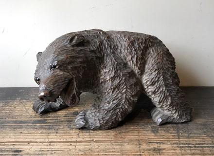 の 熊 木彫り