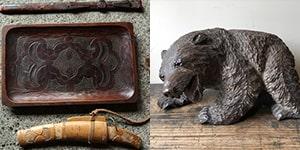 木彫りの熊・アイヌ工芸品