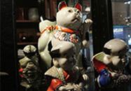 招き猫・福助 陶磁器